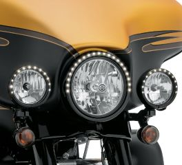 Harley-Davidson® Electra Glo Light Rings - 4 in. Auxiliary Lamp 61400141