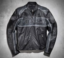 Harley-Davidson® Men's Classic Cruiser Leather Jacket 98140-10VM