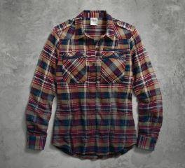 Harley-Davidson® Women's Dip-Dyed Plaid Shirt 96044-17VW