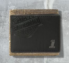 Harley-Davidson® Men's Classic Billfold with Bar and Shield Wallet, Leather Accessory Source CR2343L