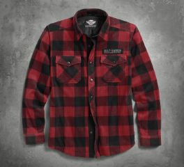 Harley-Davidson® Men's Plaid Fleece Shirt Jacket 96502-17VM