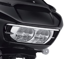 Harley-Davidson® Road Glide Headlamp Trim - Chrome 61400411