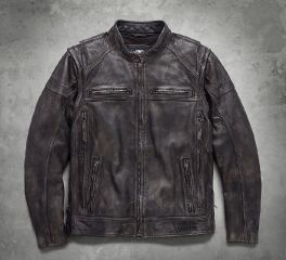 Harley-Davidson® Men's Dauntless Convertible Leather Jacket 98133-17VM
