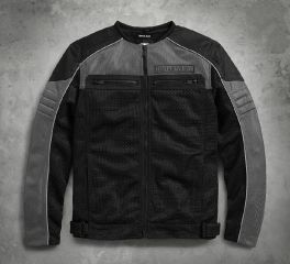 Harley-Davidson® Men's Toil Collarless Mesh Jacket 98185-17VM