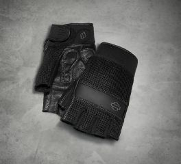Harley-Davidson® Men's Removable Pad Fingerless Gloves 98376-17VM