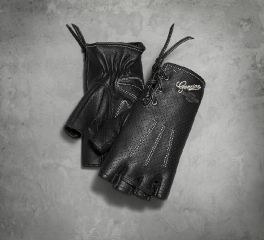 Harley-Davidson® Women's Distressed Perforated Fingerless Gloves 98380-17VW
