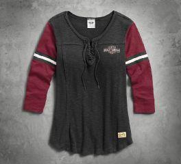Harley-Davidson® Women's Genuine Laced Neckline Tee 99105-17VW