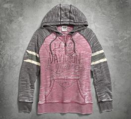 Harley-Davidson® Women's Burnout Sleeve Stripe Hoodie 96071-17VW