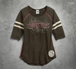 Harley-Davidson® Women's Stripe Raglan Sleeve Tee 96072-17VW