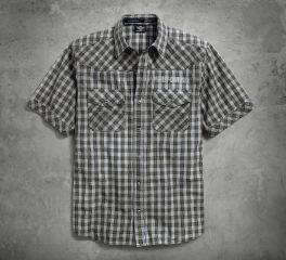 Harley-Davidson® Men's Cloud Wash Plaid Shirt 96509-17VM