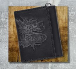 Harley-Davidson® Men's Live To Ride Tri-Fold Wallet 97662-17VM