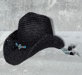 Harley-Davidson® Women's Bead & Feather Cowboy Hat 97880-17VW