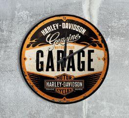 Harley-Davidson® Nostalgic HD Wall Clock Garage Style, Nostalgic Art 51083