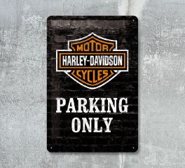 Harley-Davidson® Nostalgic HD Parking Only 20x30 Sign, Nostalgic Art 22231
