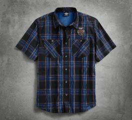 Harley-Davidson® Men's 115th Anniversary Plaid Short Sleeve Shirt 99018-18VM