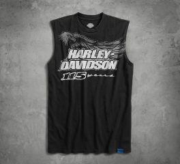Harley-Davidson® Men's 115th Anniversary Sleeveless Slim Fit Tee 99000-18VM