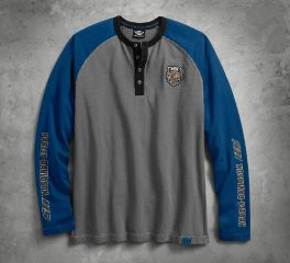 Harley-Davidson® Men's 115th Anniversary Colourblock Long Sleeve Henley 99007-18VM