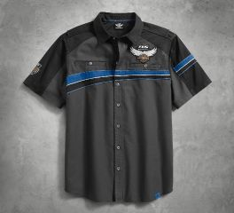 Harley-Davidson® Men's 115th Anniversary Performance Vented Shirt 99016-18VM