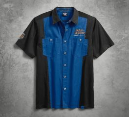 Harley-Davidson® Men's 115th Anniversary Colourblock Shirt 99017-18VM