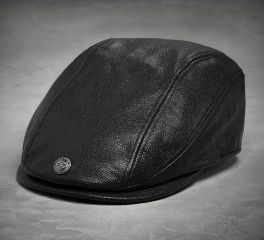 Harley-Davidson® Men's 115th Anniversary Leather Ivy Cap 99417-18VM
