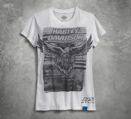 Harley-Davidson® Women's 115th Anniversary Printed Slim Fit Tee 99029-18VW