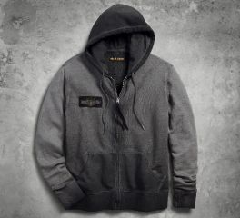 Harley-Davidson® Men's Felt Appliqué Slim Fit Hoodie 99027-18VM