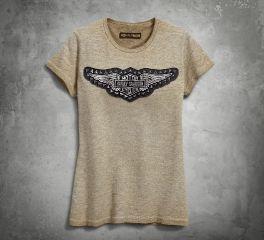 Harley-Davidson® Women's Studded Winged Tee 99049-18VW