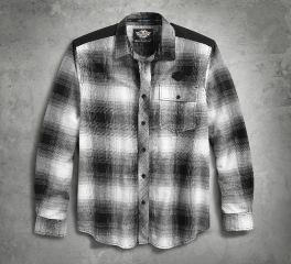 Harley-Davidson® Men's Overlay Plaid Shirt 96421-18VM