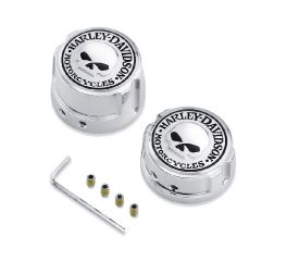 Harley-Davidson® Skull Rear Axle Nut Covers 41706-09A