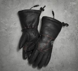 Harley-Davidson® Heated BTC 12V Waterproof Leather Gauntlet Gloves 98322-17VW