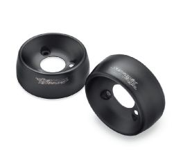 Harley-Davidson® Satin Black 4.5 in. End Caps 65100122