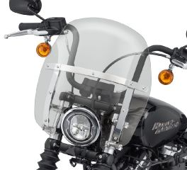 Harley-Davidson® Wind Splitter Quick-Release Compact 14 in. Windshield 57400331