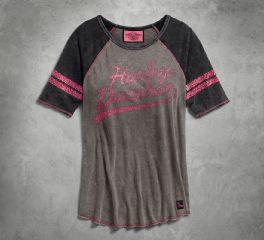 Harley-Davidson® Pink Label Raglan Sleeve Tee 96029-18VW