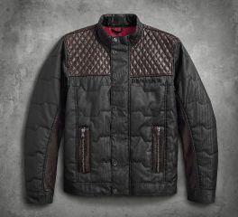 Harley-Davidson® Men's Quilted Leather Accent Jacket 97441-18VM
