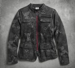 Women's Skull Jacquard Jacket 96040-18VW