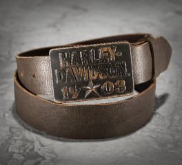 Harley-Davidson® Men's Brown Leather 1903 Distressed Belt 97670-16VM