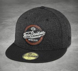 Harley-Davidson® Men's Black 59 Fifty Circle Patch Baseball Cap 97805-18VM