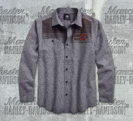 Harley-Davidson® Men's Castlerock Textured Slub Long Sleeve Shirt 96117-18VM