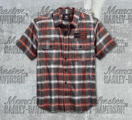 Harley-Davidson® Men's Plaid Short Sleeve Shirt 96121-18VM