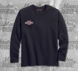 Harley-Davidson® Men's Heather Grey Sublimated Embroidered Slim Fit Tee 96258-18VM