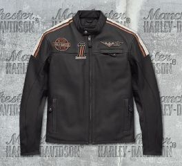 Harley-Davidson® Men's Gorgan CE-Certified Leather Jacket 97003-18EM