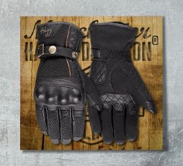 Harley-Davidson® Women's Cowley Leather Full Finger Gloves 97111-18EW
