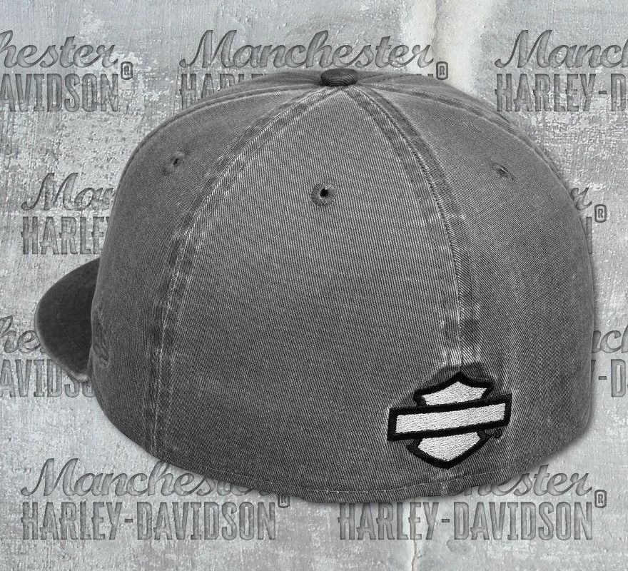 dc2a40ed5c272 Harley-Davidson® Men s Grey Embroidered No.1 Patch 59FIFTY® Cap 97651- ...