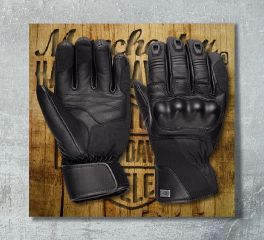 Harley-Davidson® Authority Waterproof Leather Gloves 97366-18EM