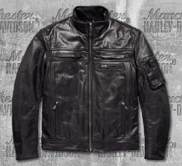 Harley-Davidson® Authority Waterproof Leather Riding Jacket 97197-18EM
