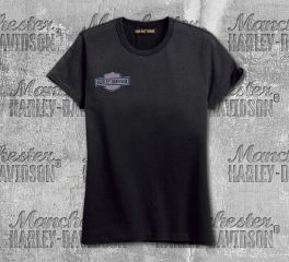 Harley-Davidson® Women's Black Eagle Flag Short Sleeve Tee 99099-18VW