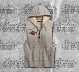 Harley-Davidson® Women's Mourning Dove Studded Sleeveless Hoodie 99098-18VW
