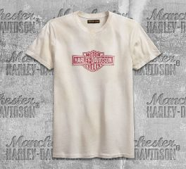 Harley-Davidson® Men's Turtledove Distressed Logo Slim Fit Tee 99094-18VM