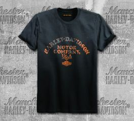 Harley-Davidson® Men's Steel Grey Layered Print Slim Fit Tee 99093-18VM