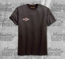Harley-Davidson® Men's Anthracite Jersey Appliqué Slim Fit Tee 99092-18VM